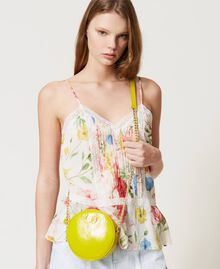 """Leather shoulder bag """"Led"""" Yellow Woman 211TD8032-0S"""