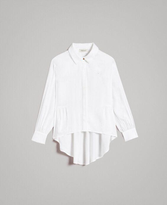 Camicia asimmetrica in raso
