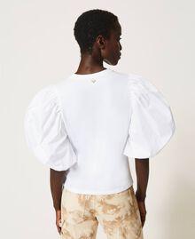 T-shirt with glitter logo print White Woman 211TT2513-03