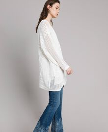 Openwork knitted cardigan Off White Woman 191ST3041-04