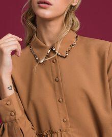 "Sequin shirt dress ""Sequoia"" Beige Woman 192ST209C-04"