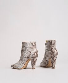 Leather ankle boots Ice Python Print Woman 191TCP13C-05