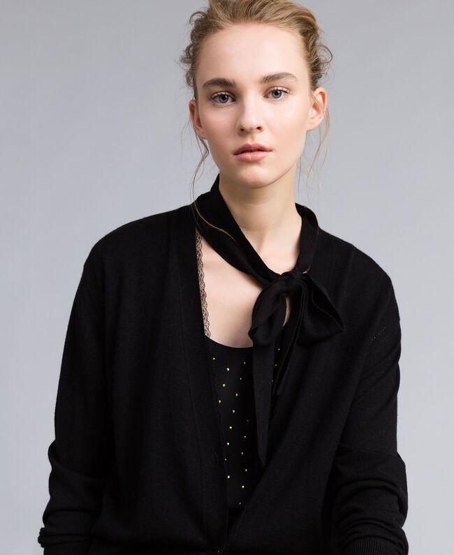 Silk and cashmere cardigan Black Woman PA83GG-03