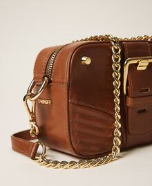 Small Rebel shoulder camera bag Leather Brown Woman 202TB723R-03