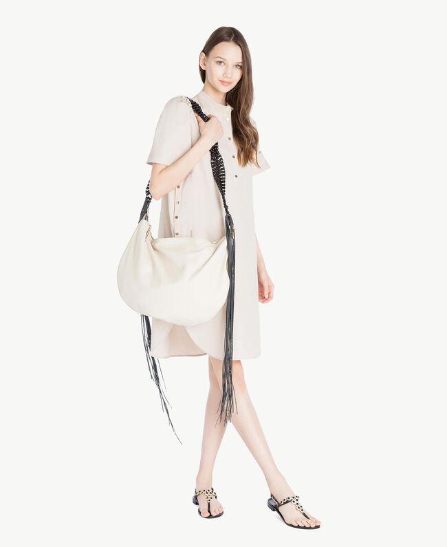 TWINSET Hobo-Tasche mit Fransen Dune Frau OS8TDA-05