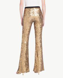 Pantalon full paillettes Jaune Or Femme TS82EQ-03