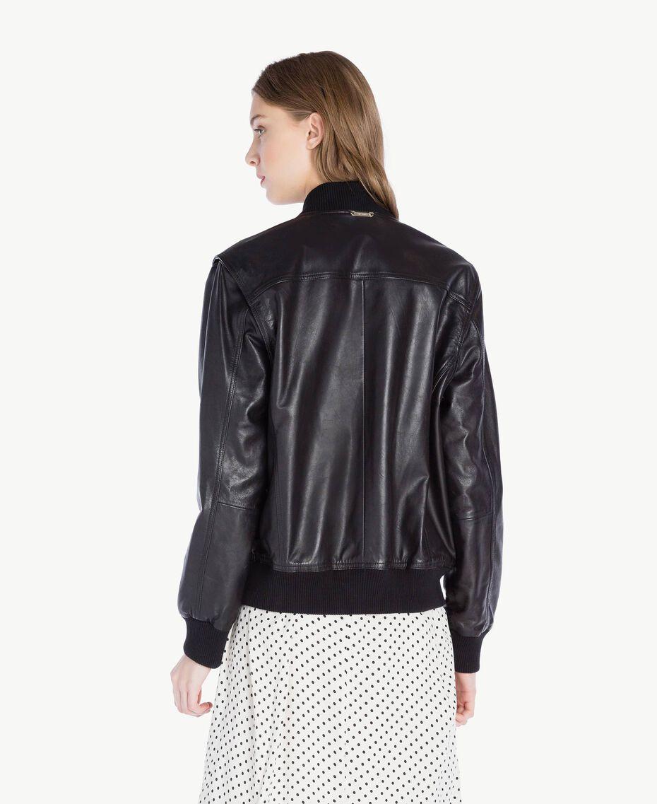 Leather jacket Black Woman PS82DA-03