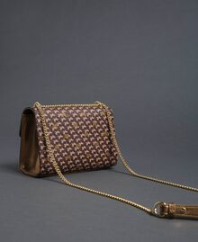 Butterfly print small shoulder bag Dark Gold Butterfly Print Woman 192TO801M-04