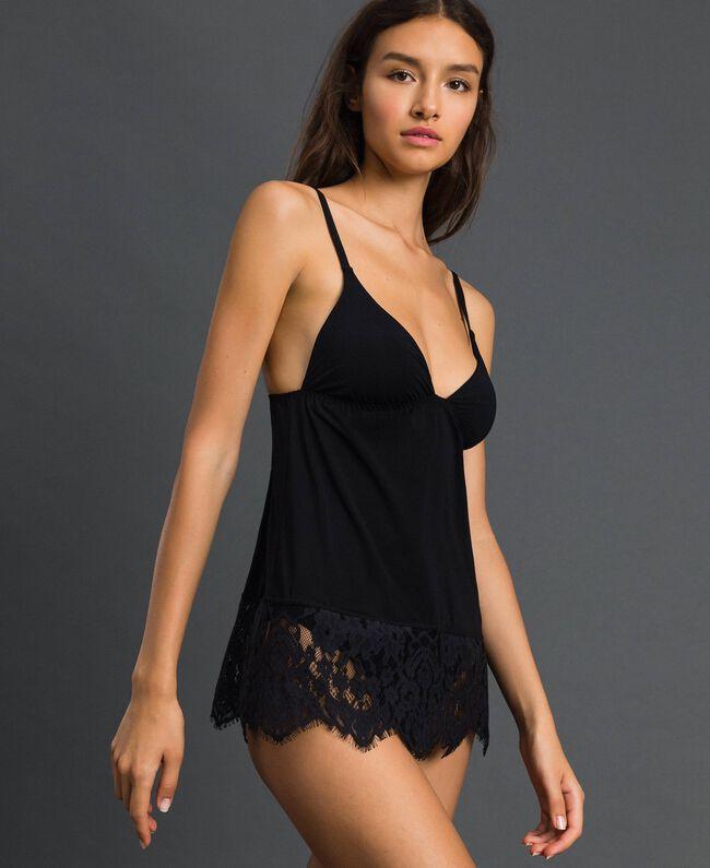 Top lingerie avec dentelle Noir Femme 192LI61WW-01