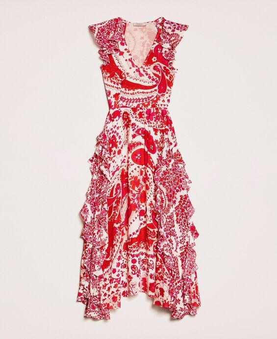 Длинное платье из жоржета с принтом пейсли