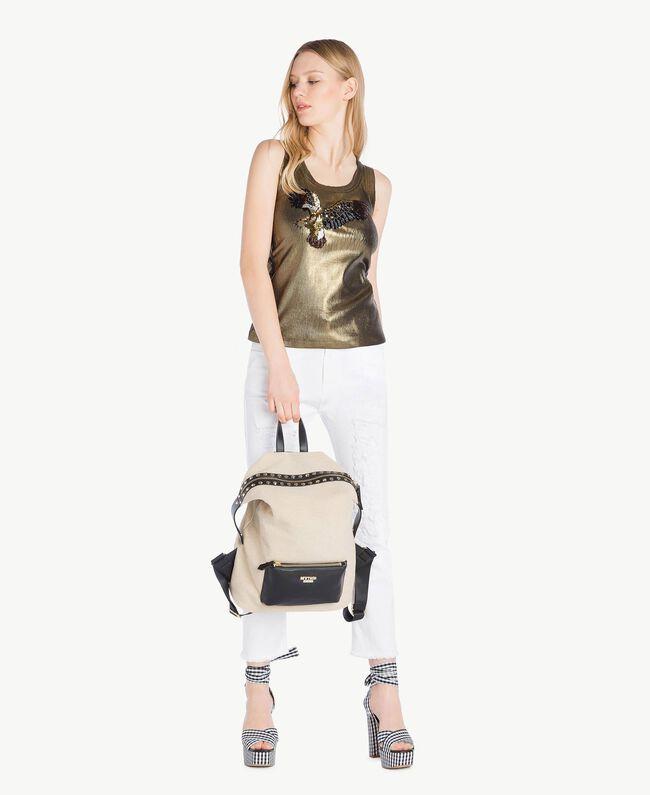 Trägerhemd mit Beschichtung Steingrün Frau YS821B-05
