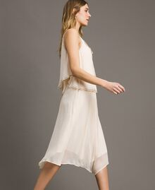 """Crepon embroidered dress """"Milkway"""" Beige Woman 191LB21BB-02"""