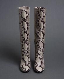 Leather boots with animal print Rock Python Print Woman 192TCT010-05
