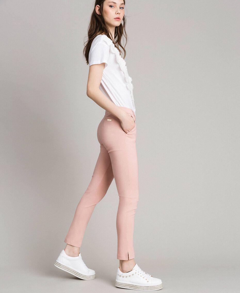 """Pantalon cigarette Rose """"Pink Bouquet"""" Femme 191LB22GG-02"""