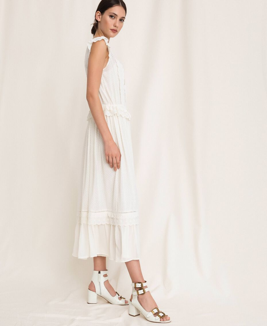 Broderie anglaise long dress White Snow Woman 201TP2497-02