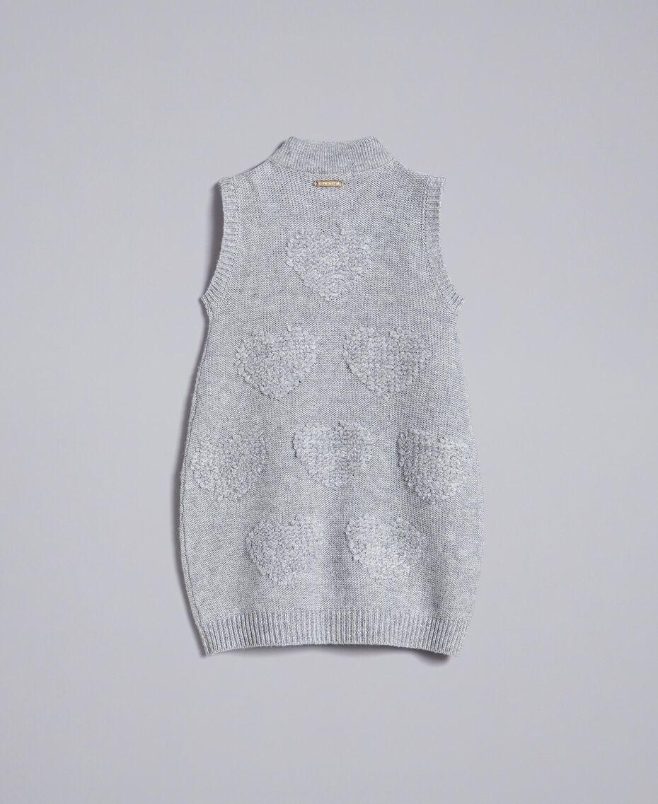 Mini dress with hearts Light Gray Mélange Child FA83DA-0S