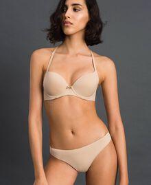 Culotte brésilienne avec nœud Rose Skin Femme LCNN77-01