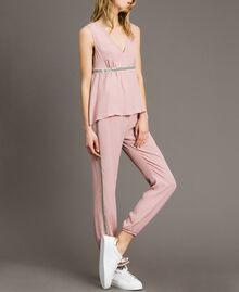 """Pantalon de jogging à paillettes Rose """"Pink Bouquet"""" Femme 191LB2LDD-01"""