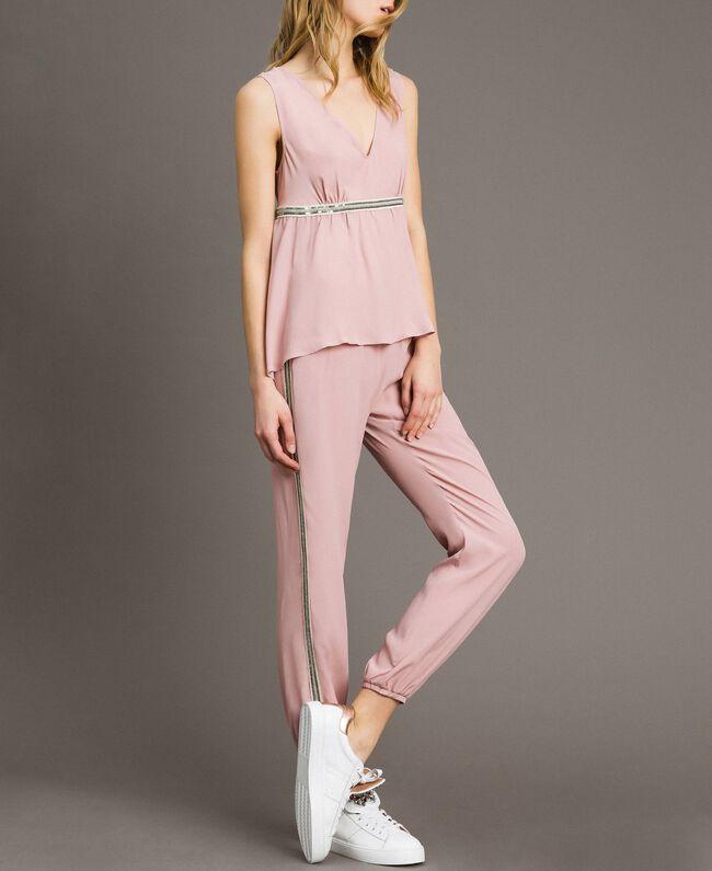 """Jogginghose mit Pailletten """"Pink Bouquet"""" Pink Frau 191LB2LDD-01"""