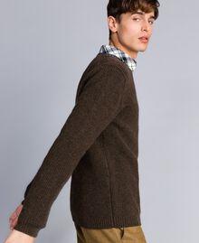 Pull en laine mélangée Vert Alpin Homme UA83DA-02