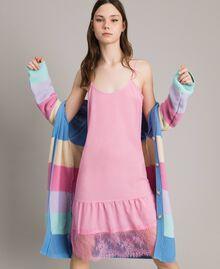 Vestido lencero de crespón de China con encaje Rosa Hortensia Mujer 191MP2453-01