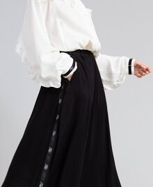 Georgette skirt Black Woman PA82HJ-04
