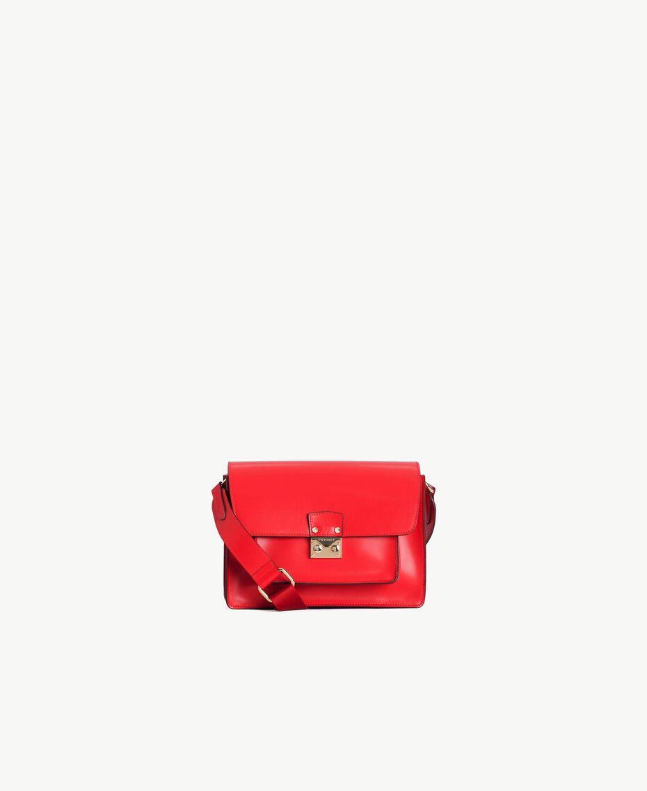 TWINSET Leather shoulder bag Ruby Woman AS8PE1-01