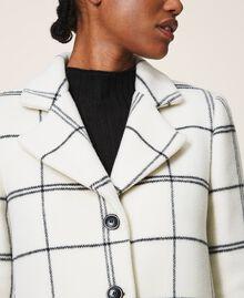 Пальто из жаккардового сукна Большая Клетка Двухцветный Черный Белый / Черный женщина 202TP224A-05