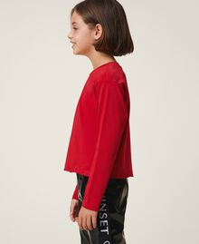 T-shirt with embroidered logo Cherry Red Child 202GJ2470-02