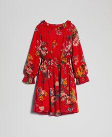 Robe en crêpe georgette avec imprimé floral Imprimé Fleurs des Champs Grenadier Enfant 192GJ2592-0S