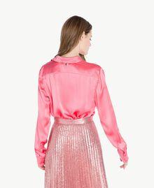 "Silk shirt ""Doll"" Fuchsia Woman PS825D-03"