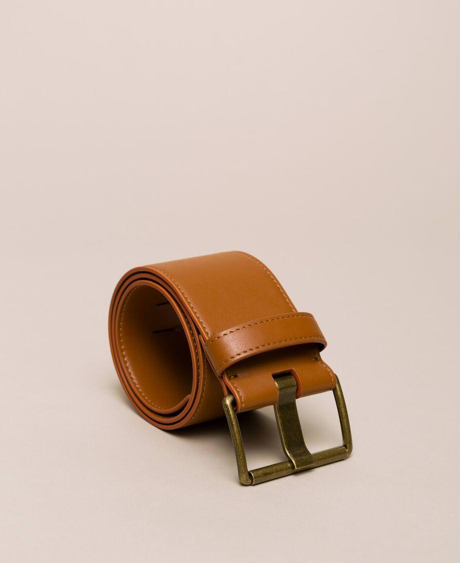 Maxi-Taillengürtel aus Lederimitat Leder Frau 201MO5351-03