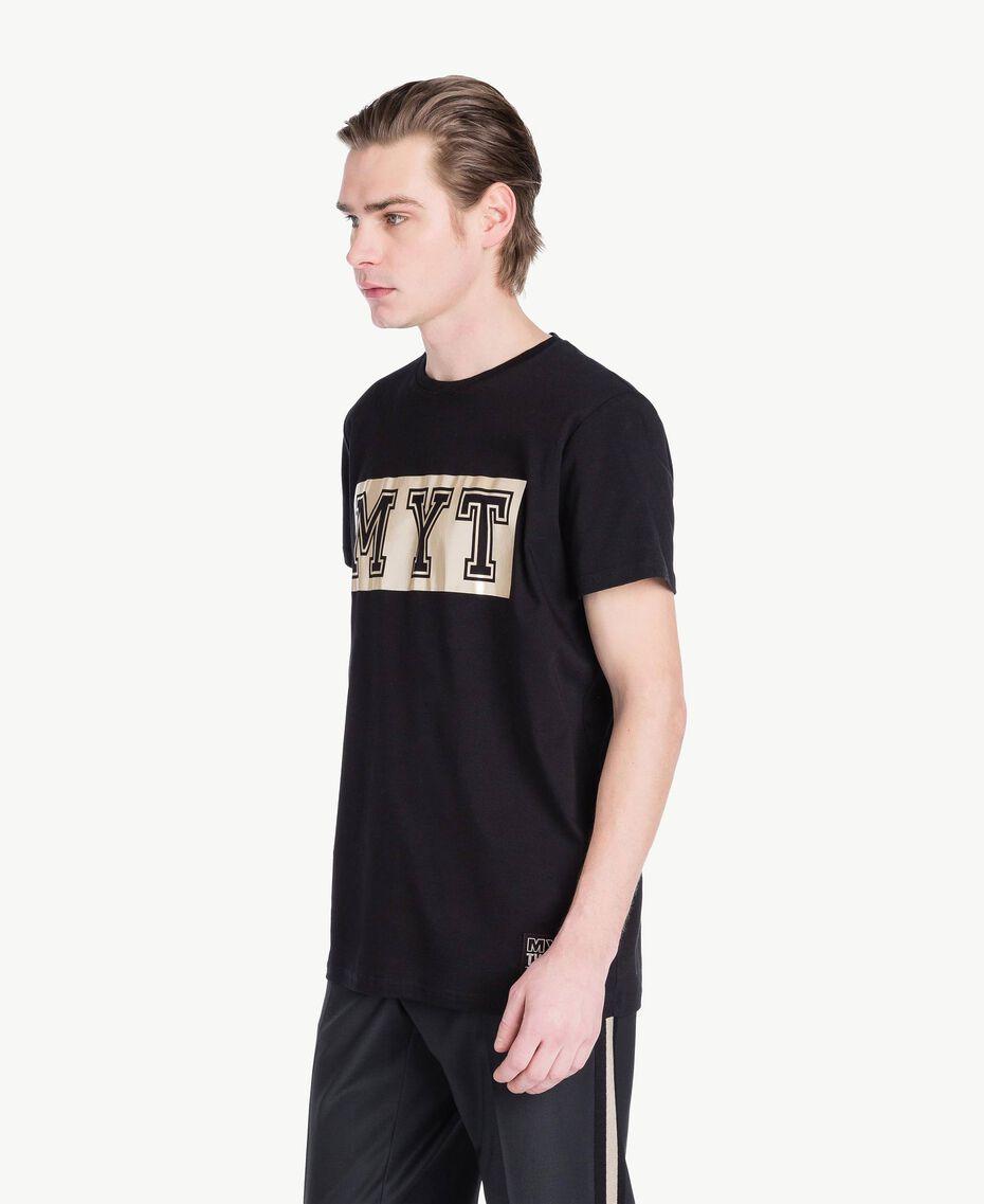 T-Shirt mit Logo Schwarz Mann US8226-02