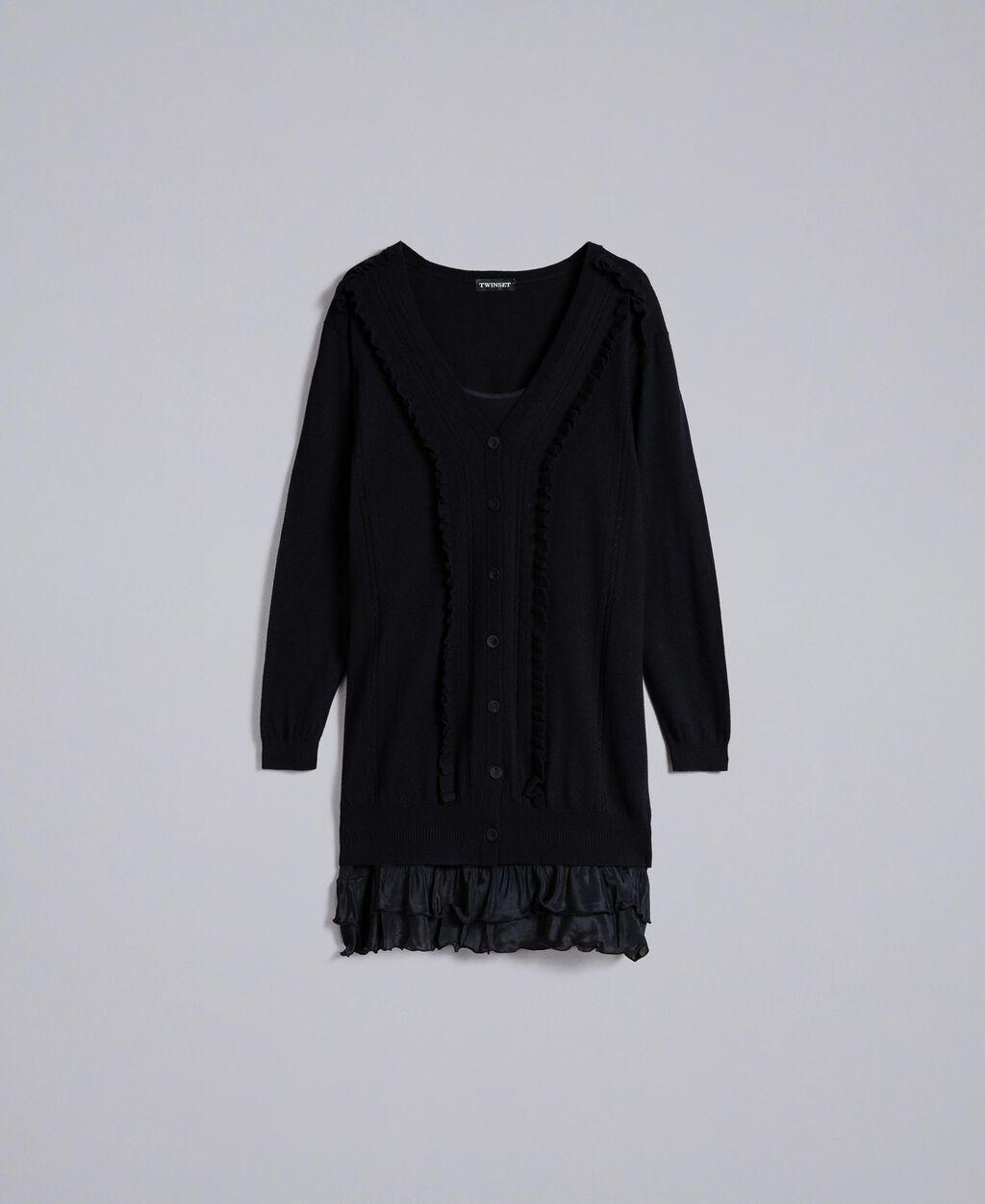 afaa66f768e Robe en laine et cachemire avec fond de robe Femme