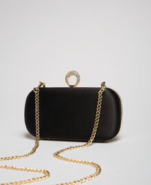 Satin clutch Black Woman 192TQ706A-04