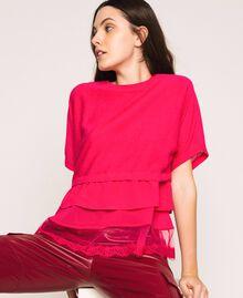 Maglia-cardigan in misto lino con top Rosa Selvatica Donna 201MT3022-05