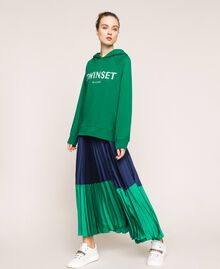 Maxi sweatshirt with embroidered logo Python Woman 201TP2080-0T