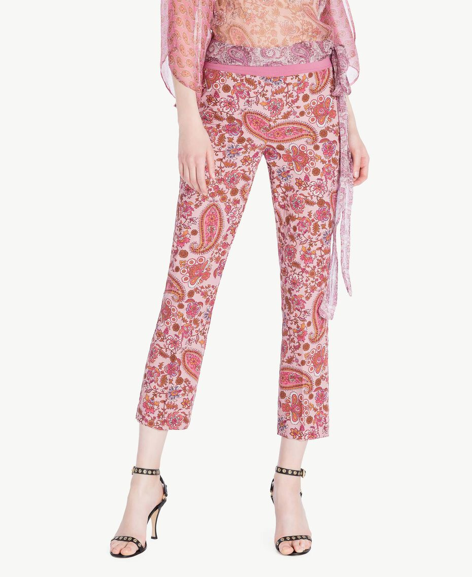 "Printed flared trousers ""Hippie Arabesque"" Print Woman TS82X3-01"