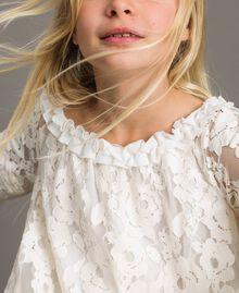 Spitzenkleid mit Rüsche Zweifarbig Chantilly / Optisch Weiß Kind 191GJ2QH0-04