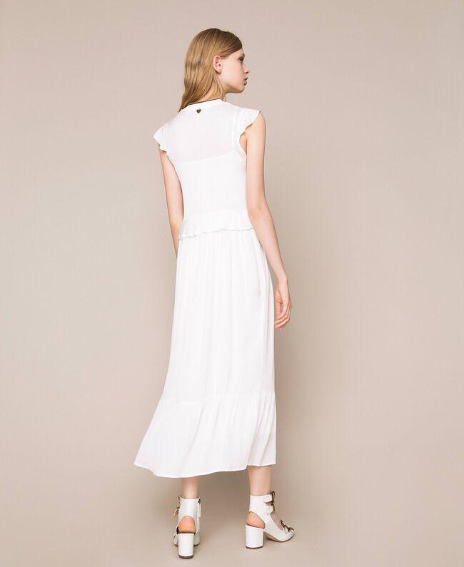 Crêpe de Chine long dress Ivory Woman 201TP2390-04