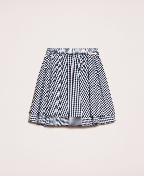 Gingham full skirt