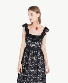 Langes Kleid aus Spitze Schwarz Frau TS828N-04