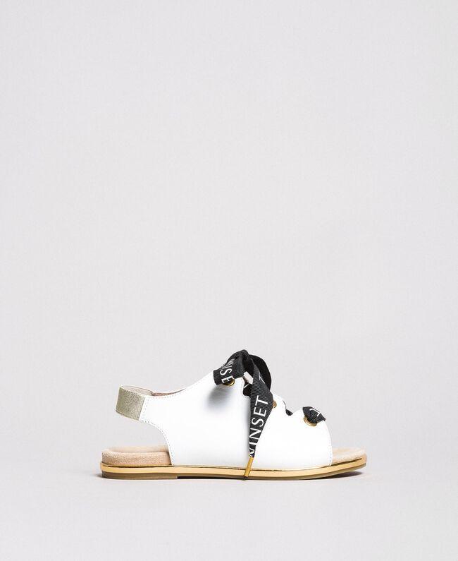 Sandalen mit Markenschnürung Weiß Kind 191GCJ012-01