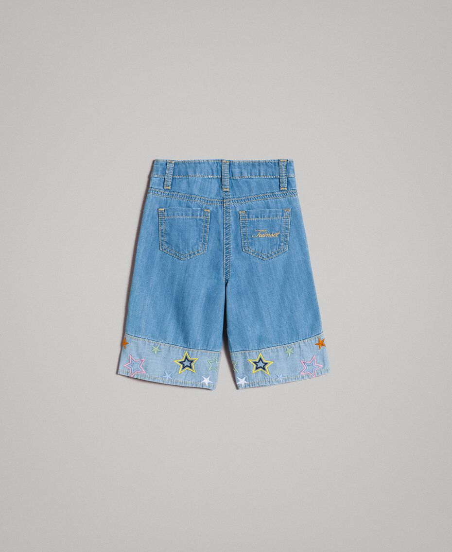 Vaqueros de pierna ancha con estrellas bordadas Soft Denim Niño 191GB2320-0S