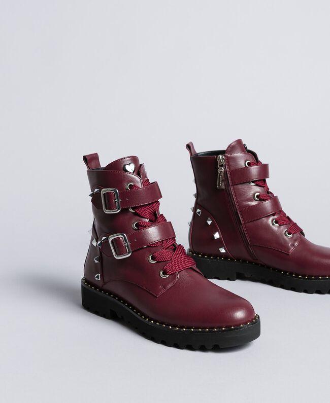 Boots en similicuir Bordeaux Femme DA8PJA-01