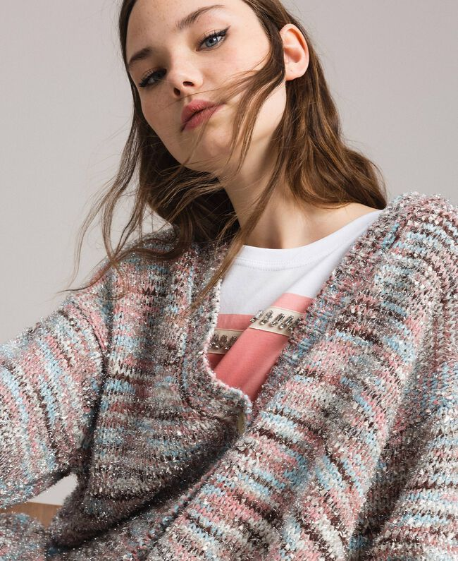 """Multicolour lurex cardigan Multicolour """"Pastel Colour"""" Lurex Woman 191MP3181-04"""