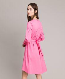 Hemdblusenkleid aus Popeline Rosa Kamelie Frau 191MP2215-02