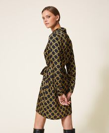 Chain print shirt dress Ivory / Gold Chain Print Woman 202TT2210-04