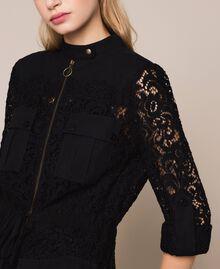 Macramé lace dress Black Woman 201TP2196-04