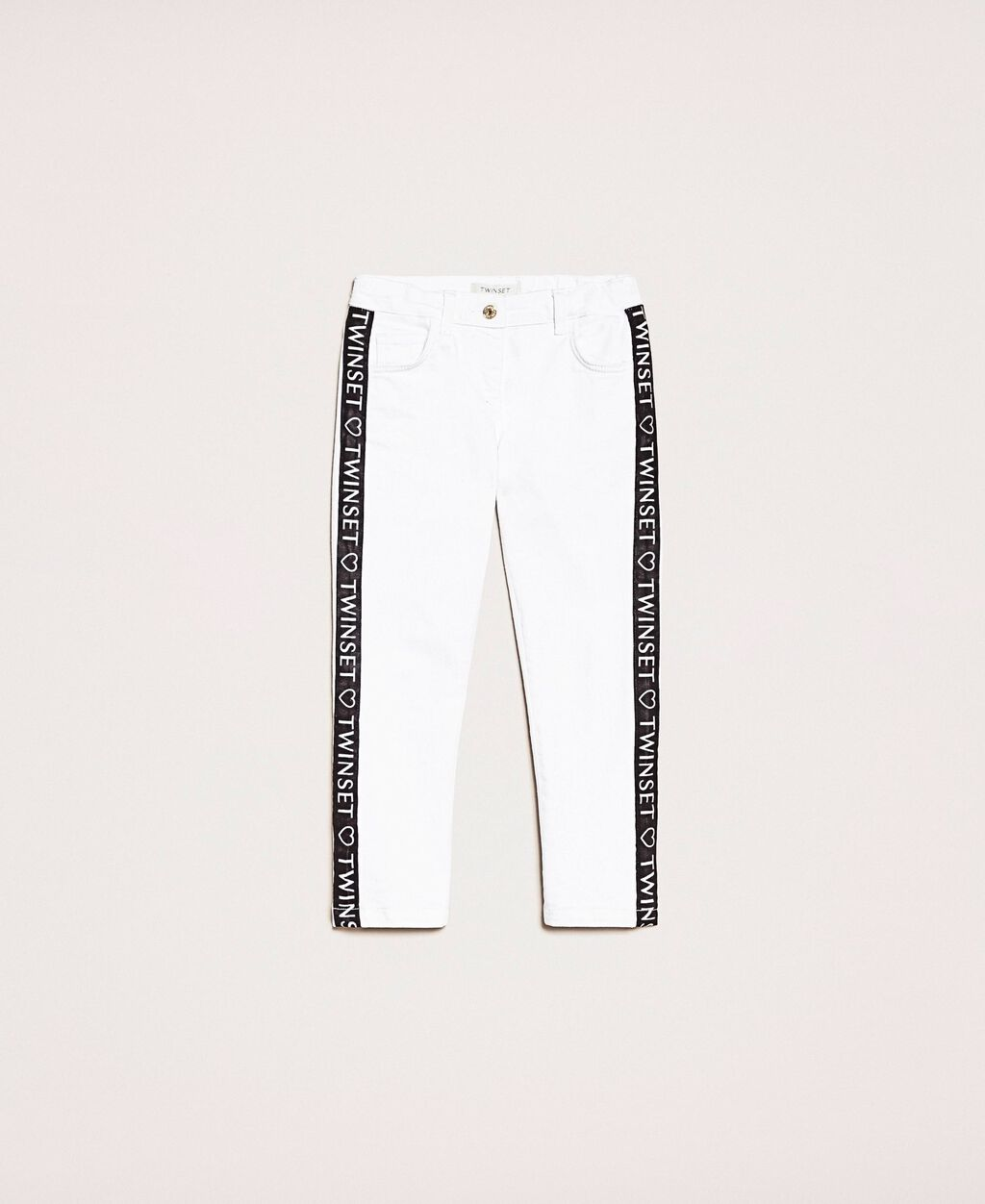Skinny trousers with logo